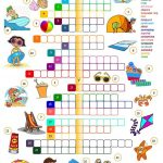 Summer Holidays   Crossword Worksheet   Free Esl Printable   Printable Crossword Puzzles Summer Holidays