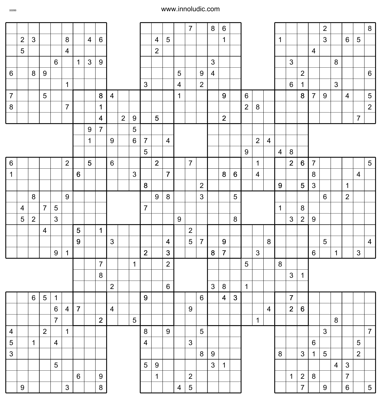Sumo - Printable Suguru Puzzles