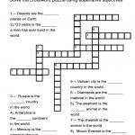 "Superlative Adjectives Worksheet   ""in The World"" Crossword Puzzle   Printable Word Puzzles For 7 Year Olds"