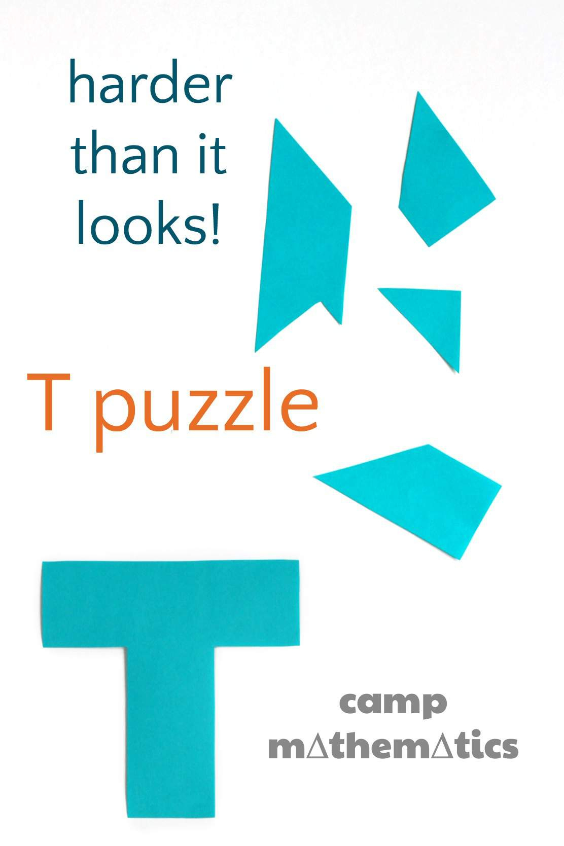 T Puzzle (Boggle Your Mathematical Mind) - Printable T Puzzle