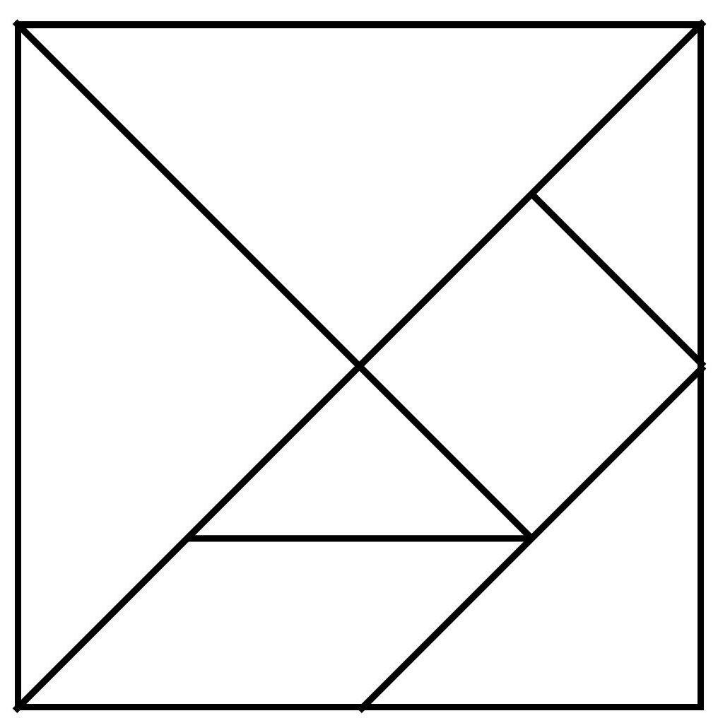 Tanagram Template | Brain Games | Wiskunde Spelletjes, Wiskunde - Printable Tangram Puzzle Templates
