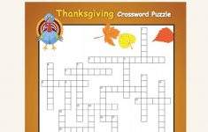 Free Thanksgiving Crossword Puzzles Printable