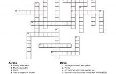 Printable Thanksgiving Crossword