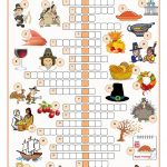 Thanksgiving Crossword Puzzle Worksheet   Free Esl Printable   Printable Thanksgiving Crossword Puzzles