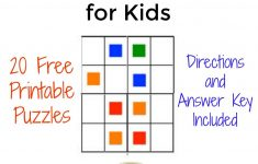The Activity Mom – Color Sudoku Puzzles For Kids – The Activity Mom – Printable Sudoku Puzzle With Answer Key