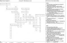 High School English Crossword Puzzles Printable