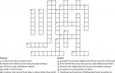 Islamic Crossword Puzzles Printable