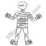 The Crazy Body Puzzle   Esl Worksheetlaretta.77   Printable Body Puzzle