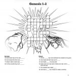 The Creation Story Sunday School Crossword Puzzle: Search For Clues   Printable Bible Crossword Puzzles With Scripture References