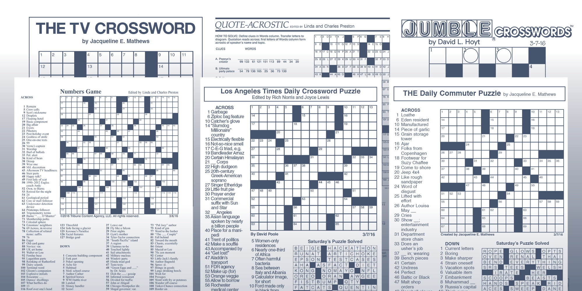 The Daily Commuter Puzzlejackie Mathews | Tribune Content Agency - Newspaper Crossword Puzzles Printable Uk
