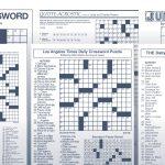 The Daily Commuter Puzzlejackie Mathews | Tribune Content Agency   Star Tribune Crossword Puzzle Printable