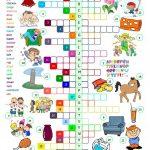 The English Alphabet   Crossword Worksheet   Free Esl Printable   Printable Esl Crossword Worksheets