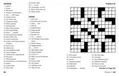 Print Crossword Puzzle Book