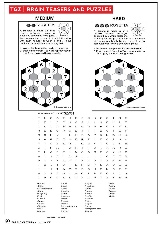 The Global Zambian Magazine Issue 1The Global Zambian Magazine - Printable Rosetta Puzzles