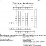 The Italian Renaissance Crossword   Wordmint   Renaissance Crossword Puzzle Printable