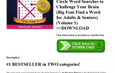 Large Print Crossword Puzzles Visually Impaired