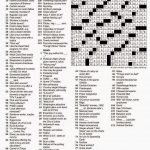 The New York Times Crossword In Gothic: November 2014   Crossword Puzzles Printable 1980S