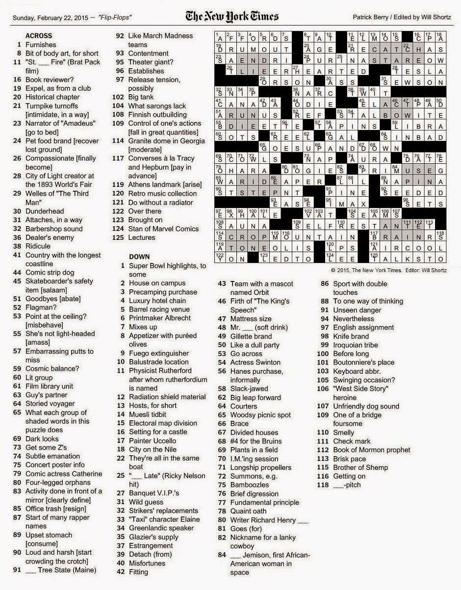 The New York Times Crossword In Gothic - Printable La Times Crossword 2017