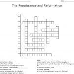 The Renaissance And Reformation Crossword   Wordmint   Renaissance Crossword Puzzle Printable