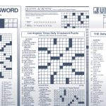 The Tv Crosswordjackie Mathews | Tribune Content Agency   90S Crossword Puzzle Printable
