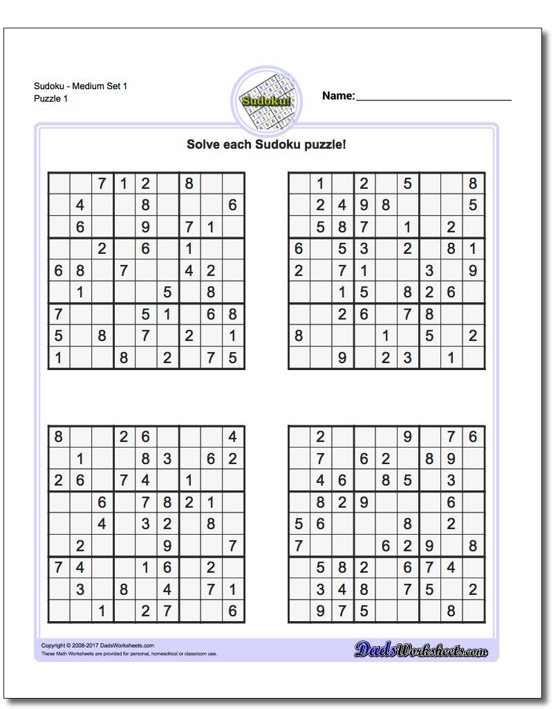 These Printable Sudoku Puzzles Range From Easy To Hard, Including - Printable Sudoku Puzzles Uk