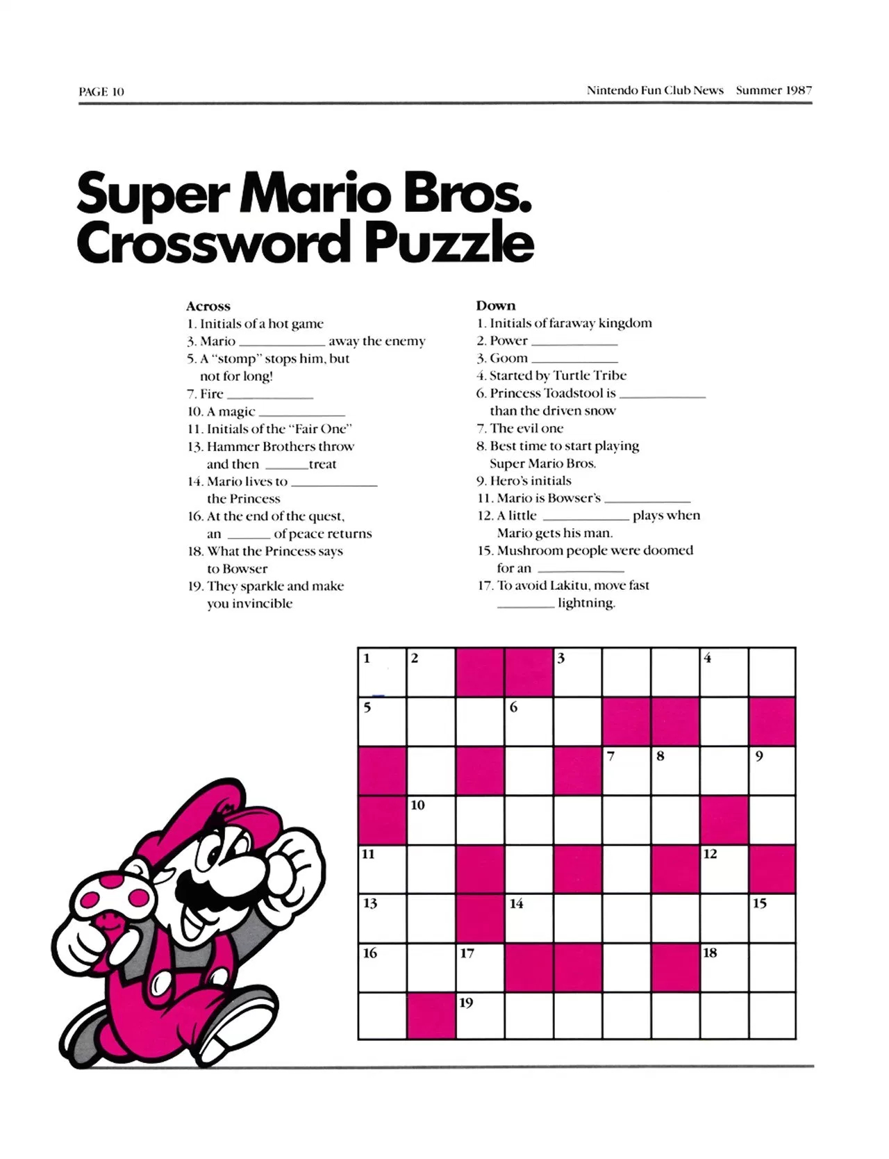 This Crossword Puzzle Is Bs - Video Game Forums - Printable Crossword Puzzles Video Games