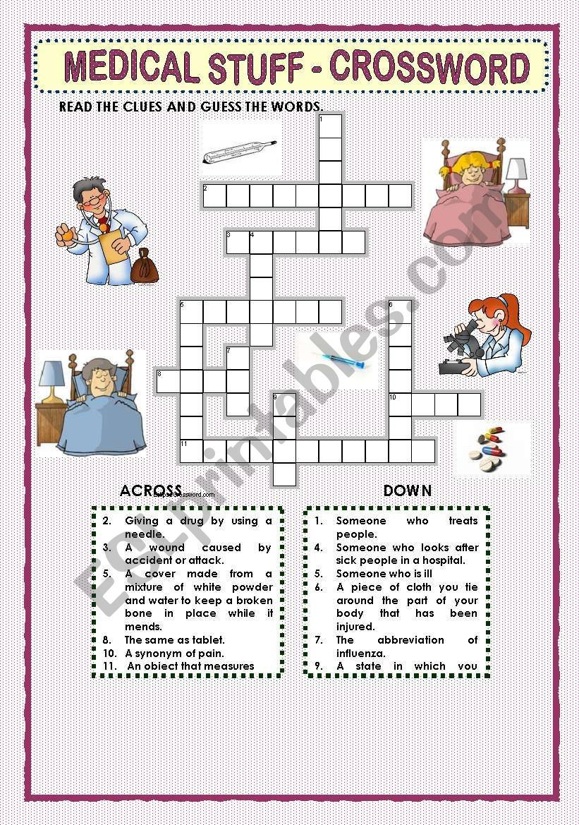 This Crossword Puzzle Was Created With Eclipse Crossword. | Nurses - Printable Grey's Anatomy Crossword Puzzles