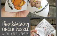 Printable Christmas Finger Puzzle With Bible Verses