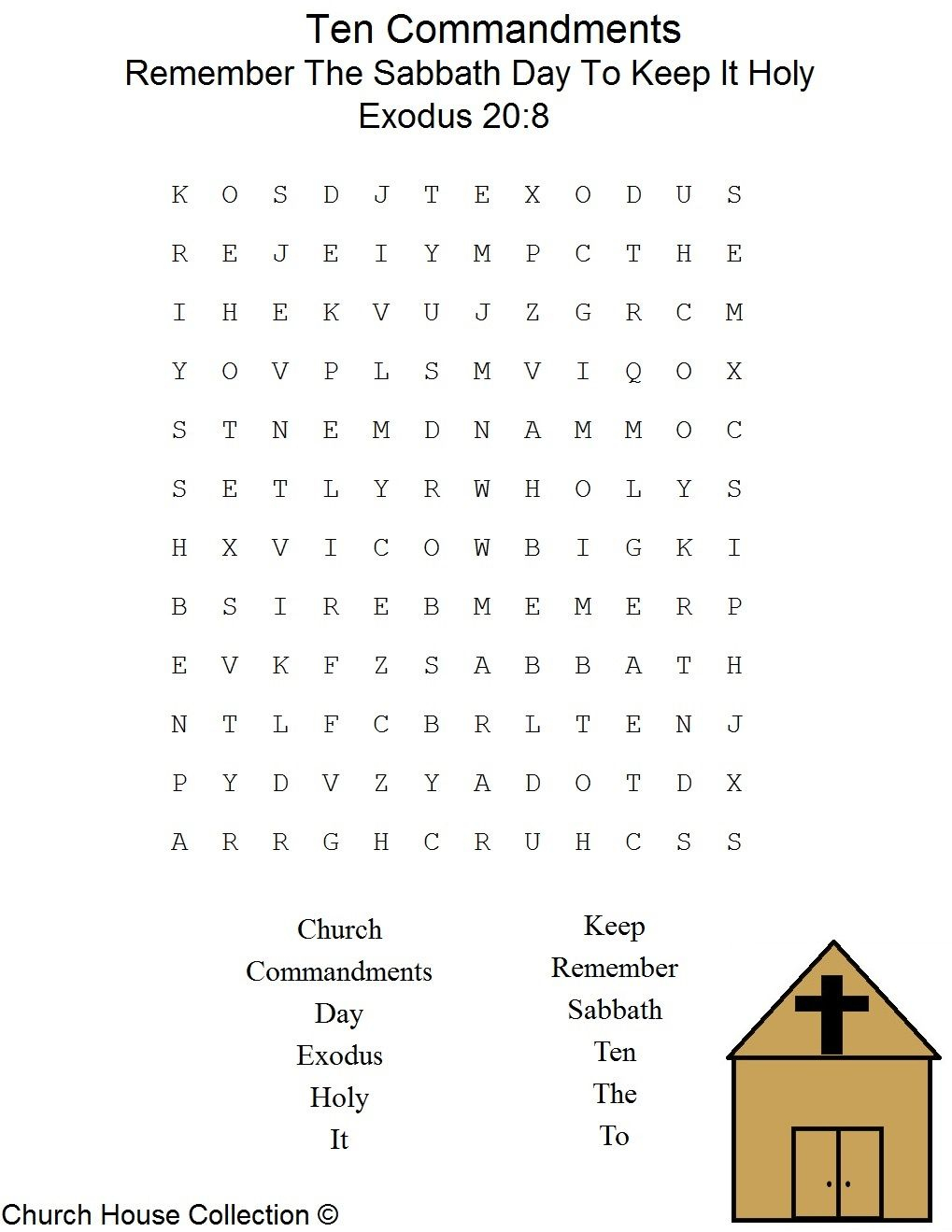 This Is A Free Printable Ten Commandments Word Find Puzzle For The - Printable Crossword Puzzles For Tweens