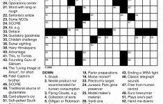 Daily Crossword Puzzle Printable Thomas Joseph