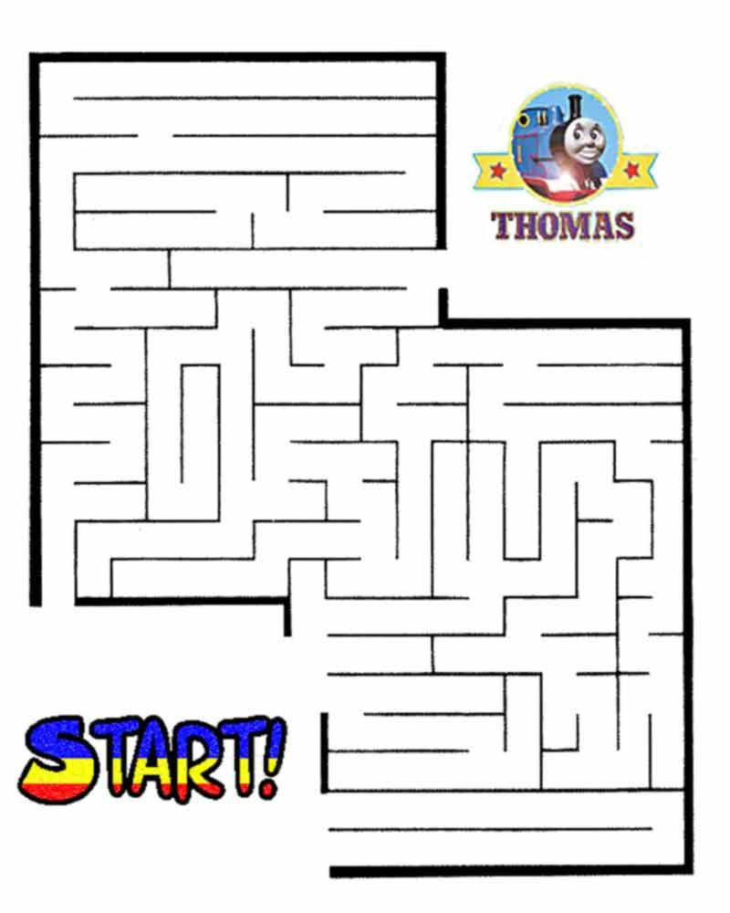Thomas The Train Halloween Worksheets For Kids   Printable Maze - Printable Train Puzzle