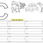 Trace Letter C Printable | Kiddo Shelter   Letter C Puzzle Printable