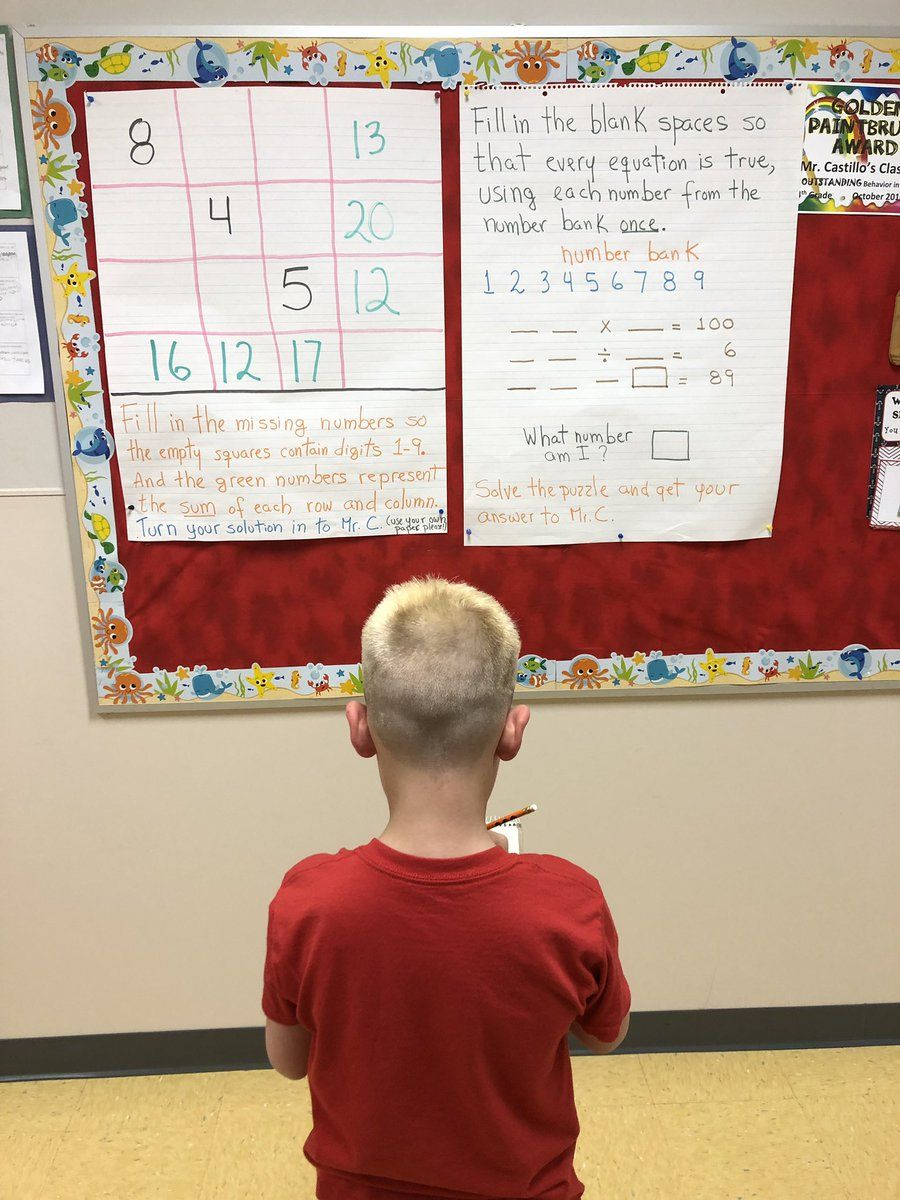 Twitter | Teaching Math | Teaching Math, Maths Puzzles, Math - Printable Yohaku Puzzles