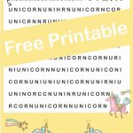 Unicorn Hunt Word Find Free Printable | Visual Perceptual Activities   Printable Unicorn Puzzle