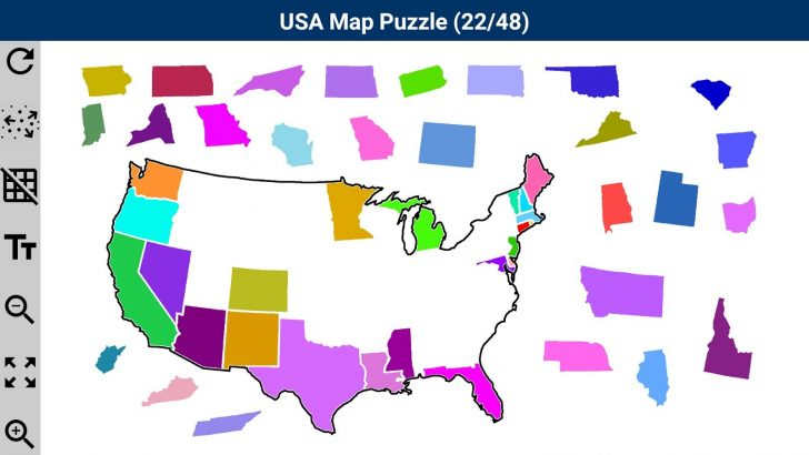 Printable Puzzle Map Of The United States