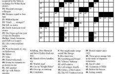 Printable Usa Crossword Puzzles