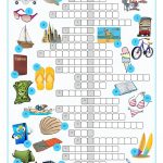Vacation Crossword Puzzle Worksheet   Free Esl Printable Worksheets   Printable Esl Crossword Worksheets