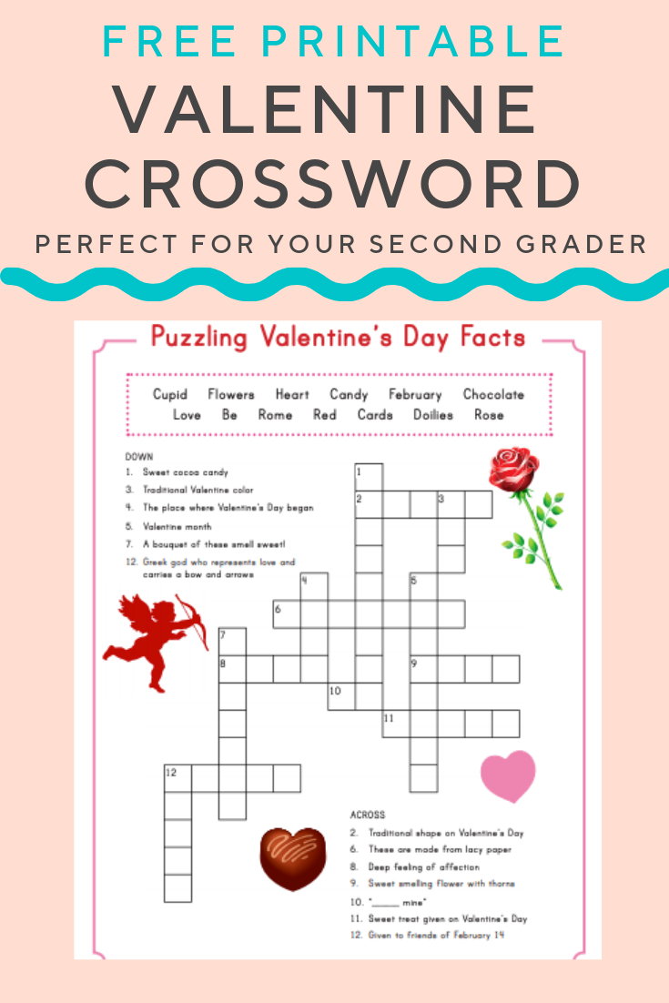 Valentine Crossword | Elementary Activities And Resources - Free Printable Valentine Crossword Puzzles