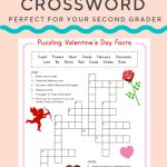 Valentine Crossword | Elementary Activities And Resources   Printable Valentines Crossword