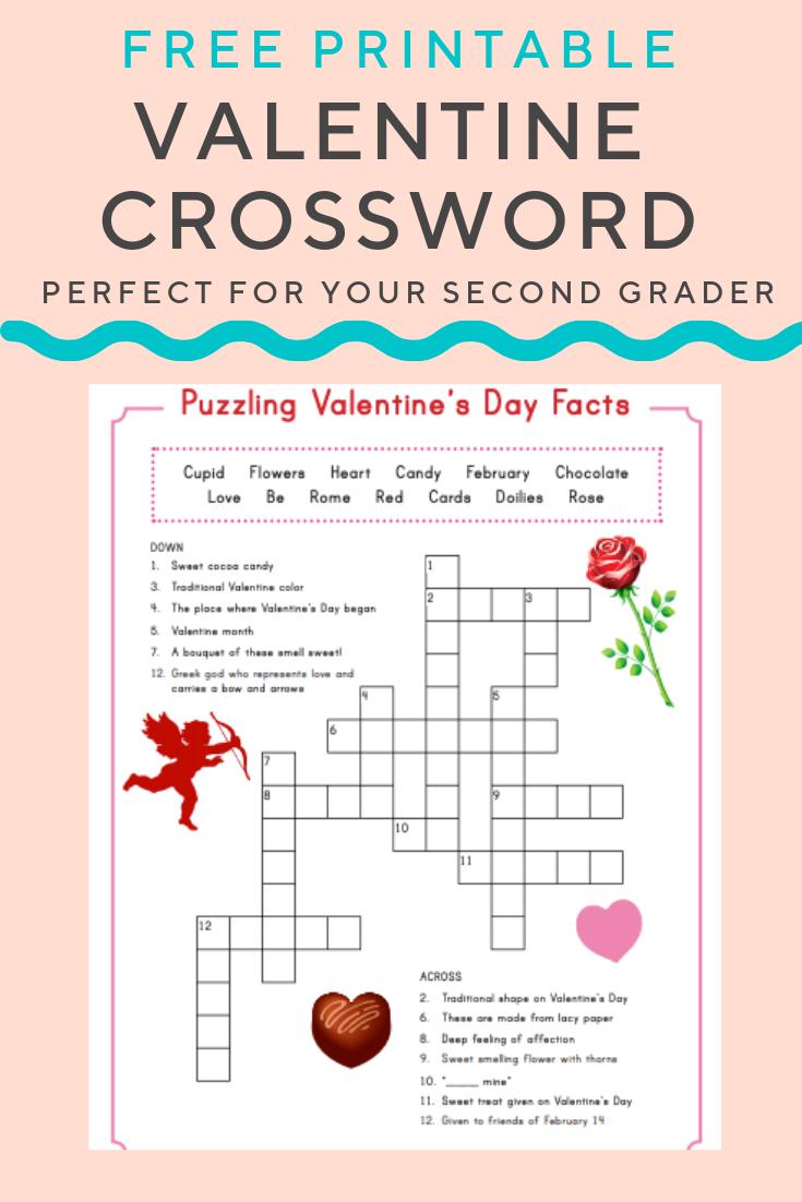 Valentine Crossword | Elementary Activities And Resources - Valentine Crossword Puzzles Printable