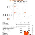 Valentine Crossword Puzzle   Sunshine And Rainy Days   Printable Valentines Crossword
