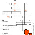 Valentine Crossword Puzzle | Valentine Printables | Crossword, Kids   February Crossword Puzzle Printable