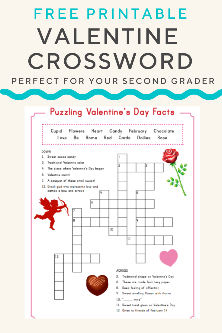 Valentine Crossword | Valentine's Day | Valentines Day Words - Printable Christian Valentine Puzzles