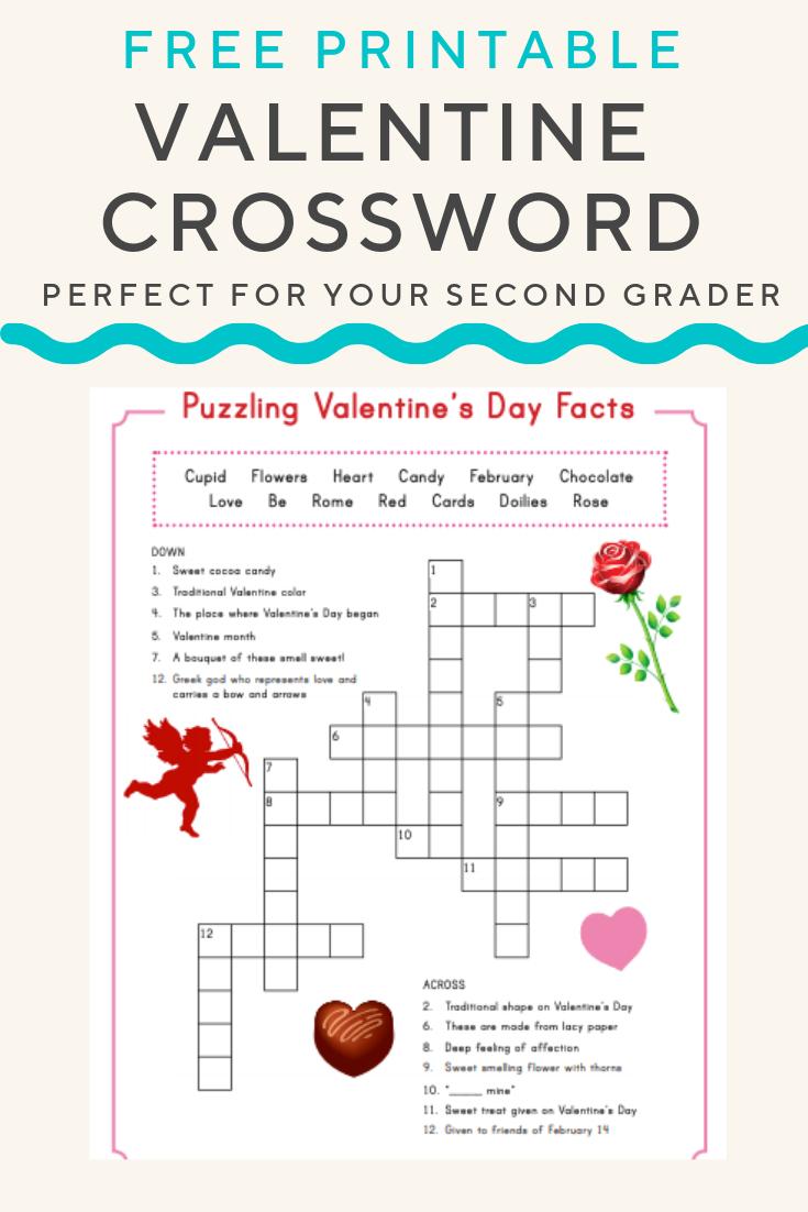 Valentine Crossword | Valentine's Day | Valentines Day Words - Valentine's Day Printable Puzzle