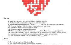 Free Printable Valentine Crossword Puzzles