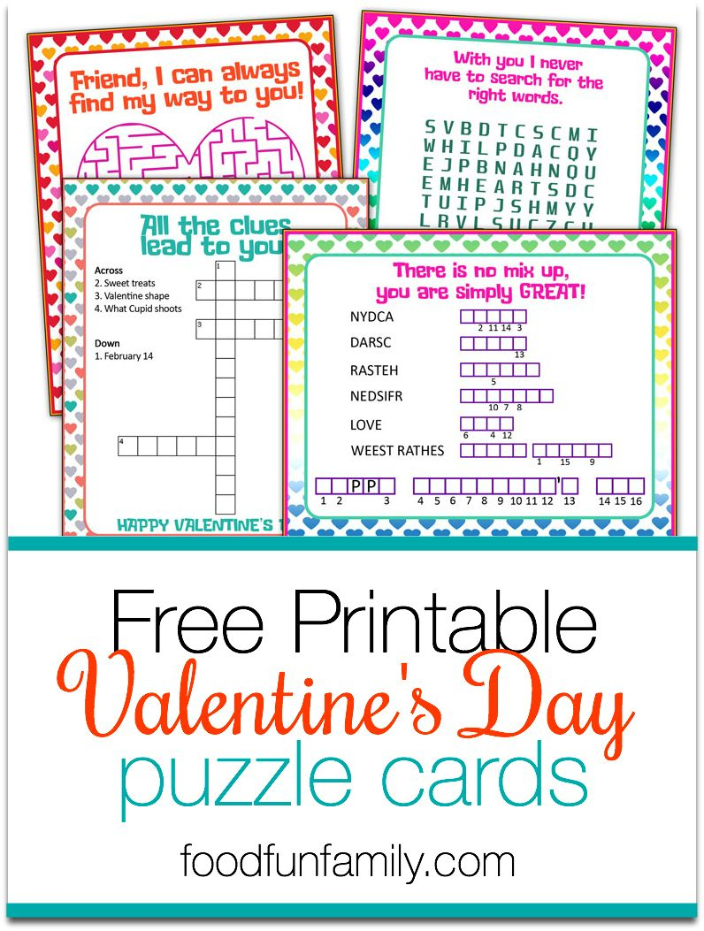 Valentine's Day Puzzle Cards {A Free Printable} | Valentine's Day - Printable Valentine Puzzle