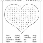 Valentines Day Word Search Large Light Pink Valentine S Crossword   Printable Valentines Crossword