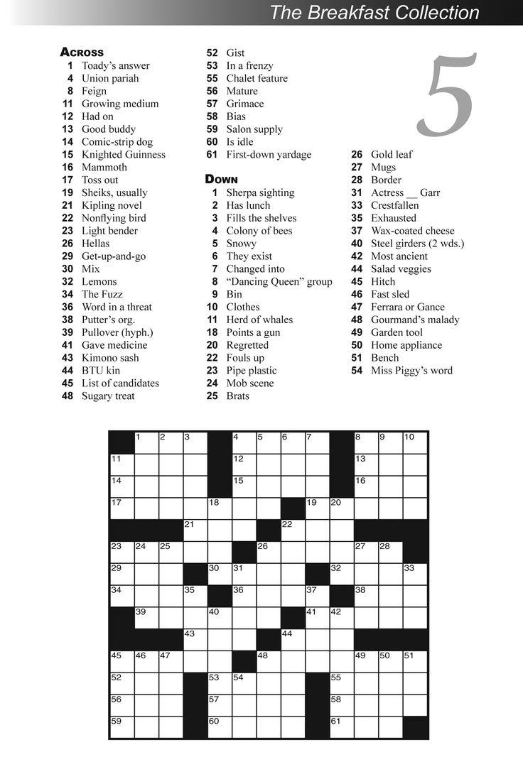 Variety Puzzles Printable B06E2569F9D270B0B5998C4Aa25A36D8 Crossword - Printable Variety Puzzles