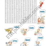 Verb Puzzle   Esl Worksheetgulaysa   Worksheet Verb Puzzle