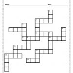 Verb Tense Crossword Puzzle Worksheet   Free Printable Crossword Puzzles For 7Th Graders